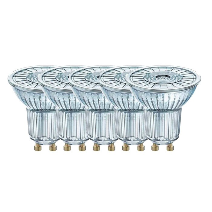 5x osram led reflektorlampe par16 gu10 dimmbar 350 lm 4 6w vollglas warmwei ebay. Black Bedroom Furniture Sets. Home Design Ideas